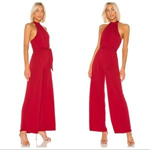 NWT Lovers + Friends Don't Be Shy Jumpsuit in Red
